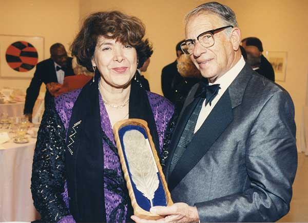 Assia Djebar with Walter Neustadt.