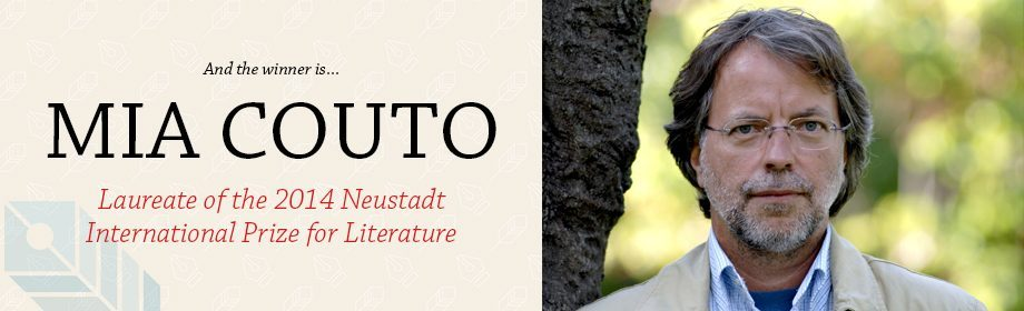 Mia Couto, winner of the 2014 Neustadt International Prize for Literature