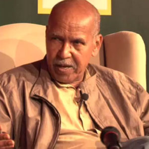 Nuruddin Farah in a video interview.