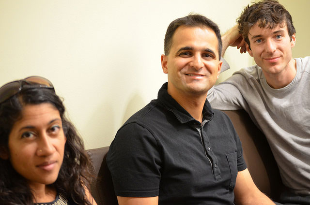 Neustadt jurors Padma Viswanathan, Amit Majmudar, and Jordan Tannahill